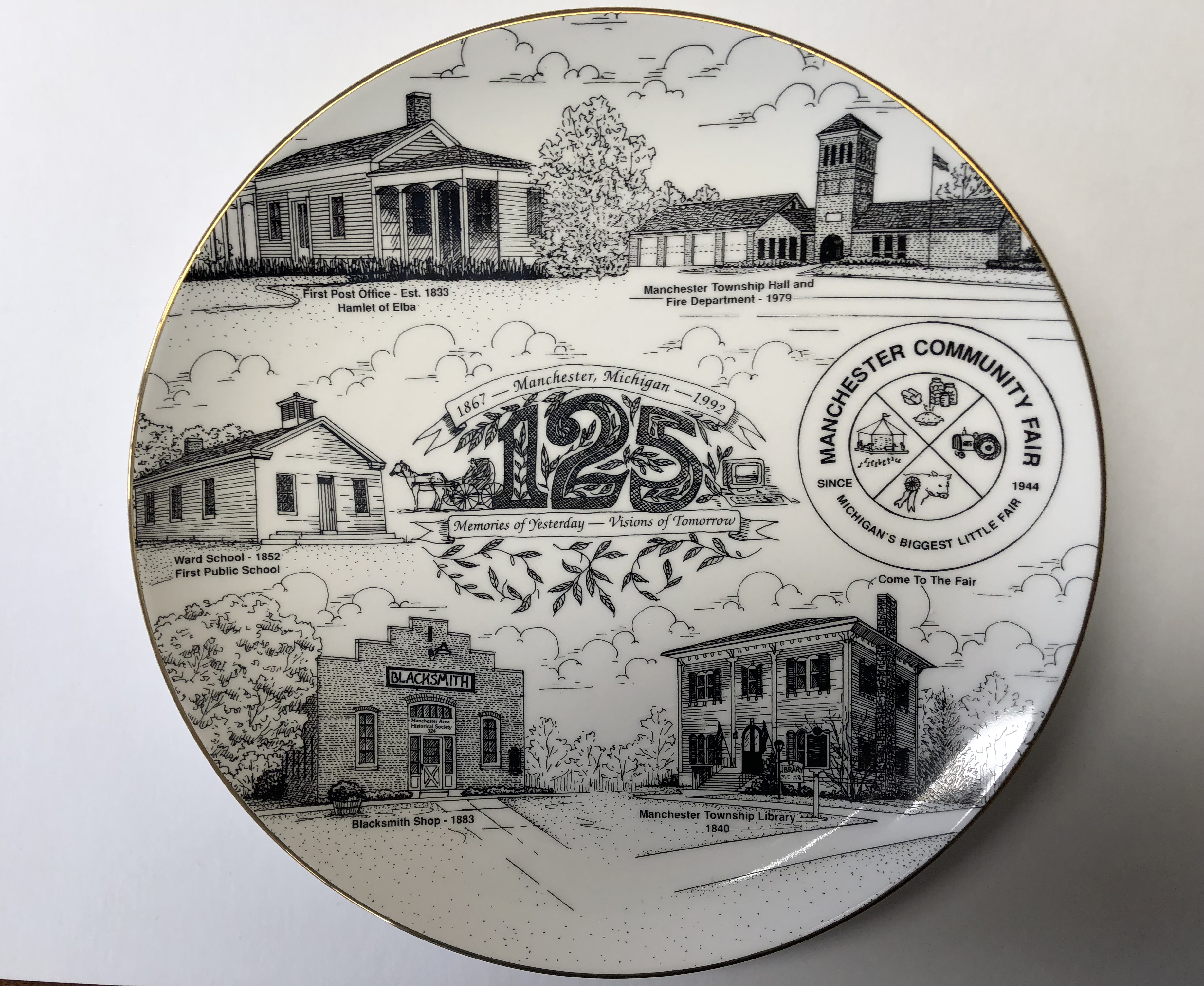 Manchester 125th Anniversary Plate